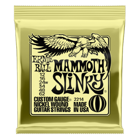 Ernie Ball Mammoth Slinky 12-62  Electric Guitar Strings